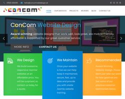 Screenshot of the ConCom homepage