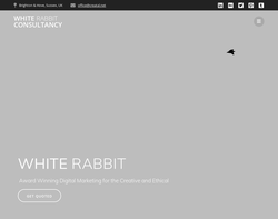 Screenshot of the WHITE RABBIT homepage