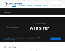 Screenshot of the Corelli Solutions Limited homepage