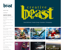 Screenshot of the Creative Beast homepage