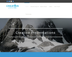 Screenshot of the CREATIVE PRESENTATIONS LIMITED homepage