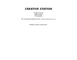 Screenshot of the Creative Station homepage