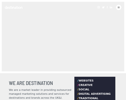 Screenshot of the Crisp eBusiness, homepage