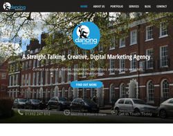 Screenshot of the Dancing Badger Ltd homepage