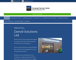 Screenshot of the Danoli Solutions Limited homepage