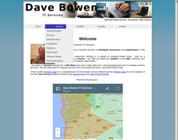 Screenshot of the Dave Bowen homepage