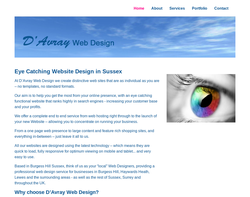Screenshot of the D'Avray Web Design homepage