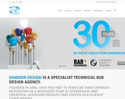 Screenshot of the Dawson Design homepage
