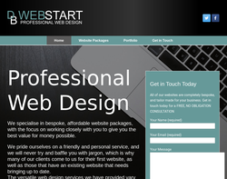 Screenshot of the DB Webstart homepage