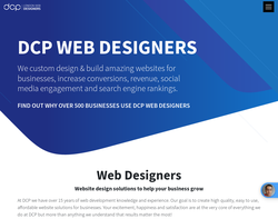 Screenshot of the DCP Web Designers homepage