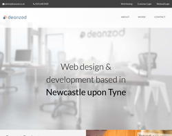 Screenshot of the Deanzod Website Design homepage
