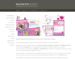 Screenshot of the Deciacco Design homepage