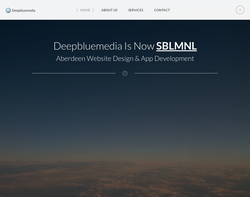 Screenshot of the Deepbluemedia - Web design aberdeen homepage