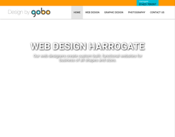 Screenshot of the Design by GOBO homepage