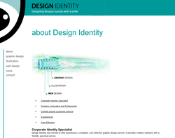 Screenshot of the Design Identity homepage