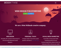 Screenshot of the Design It Wise homepage