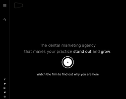 Screenshot of the Digimax Dental Marketing homepage
