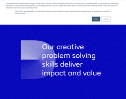 Screenshot of the Digital Detox homepage