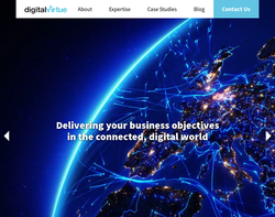 Screenshot of the Digital Virtue homepage