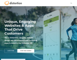 Screenshot of the Distortion homepage