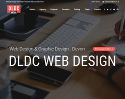 Screenshot of the DLDC Web Design homepage