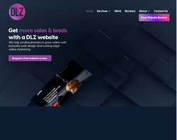 Screenshot of the DLZ Design  homepage
