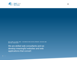 Screenshot of the DMC Web Services Ltd homepage