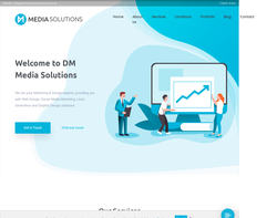 Screenshot of the DM Media Solutions homepage