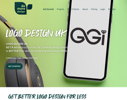 Screenshot of the Do More Design homepage