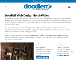Screenshot of the Doodle IT Website Design homepage