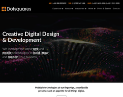 Screenshot of the Dotsquares Ltd. homepage