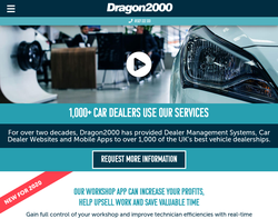 Screenshot of the Dragon2000 Car Dealer Websites homepage