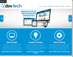 Screenshot of the DSW Technology homepage