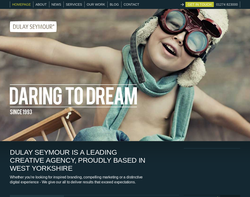 Screenshot of the Dulay Seymour Creative Communications homepage