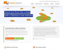 Screenshot of the Dupoi Design homepage