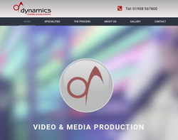 Screenshot of the Dynamics Media homepage