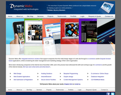 Screenshot of the Dynamic Webs Limited  homepage
