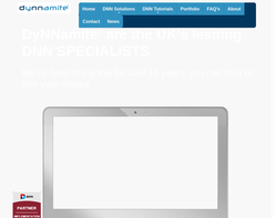 Screenshot of the DyNNamite homepage