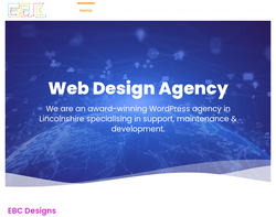 Screenshot of the EBC Designs homepage