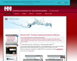 Screenshot of the E-Commerce Consortium homepage