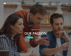 Screenshot of the EDSA Designs Ltd homepage