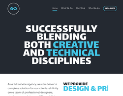 Screenshot of the eInfinity Limited homepage
