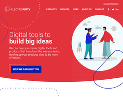 Screenshot of the Electric Putty homepage