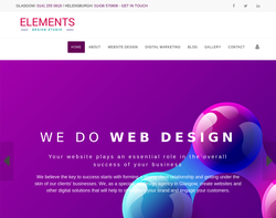 Screenshot of the ElementsDesign Studio homepage