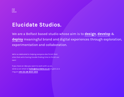 Screenshot of the Elucidate Consultancy homepage