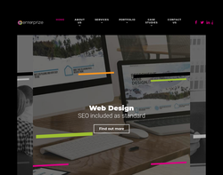 Screenshot of the Enterprize Web Design & Print Ltd homepage