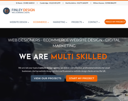 Screenshot of the Finley Design UK homepage
