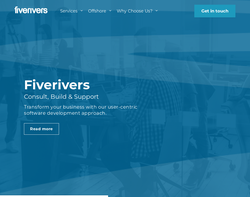 Screenshot of the Five Rivers homepage