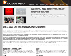 Screenshot of the Fourway Media homepage