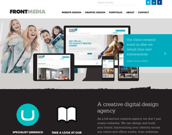 Screenshot of the Frontmedia Studio Limited homepage